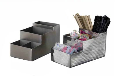 American Metalcraft BARS5 4-Compartment Bar Organizer, Satin/Stainless