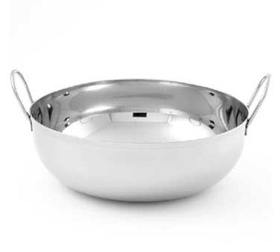 American Metalcraft BD93 9-in Round Balti Dish w/ 105-oz Capacity, Double Handled, Mirrored, Stainless