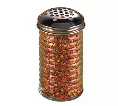 American Metalcraft BEE319 Cheese Shaker w/ 12-oz Capacity &  Extra Large Holes, Glass/Stainless