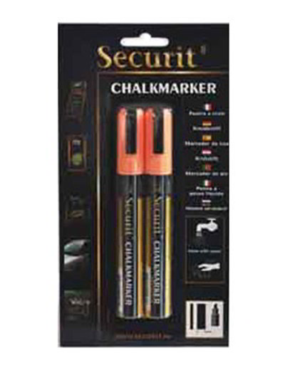 American Metalcraft BLSMA510OR Small Tip Chalk Marker, Orange