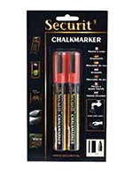 American Metalcraft BLSMA510RD Small Tip Chalk Marker, Red