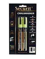 American Metalcraft BLSMA510YE Small Tip Chalk Marker, Yellow