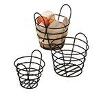 American Metalcraft BWB750 Round Wire Basket, 7x5-in, Black