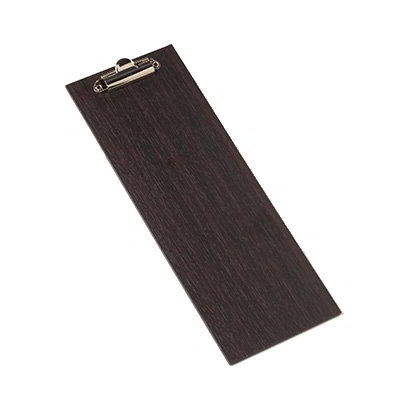 "American Metalcraft CB4 Clipboard Menu Holder - 4-1/2x12-1/2"" Espresso"