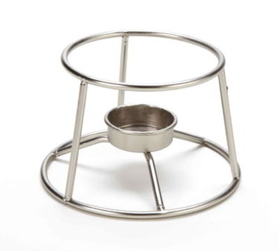 American Metalcraft CIFDR 5-in Round Mini Fondue Pot Stand, Stainless