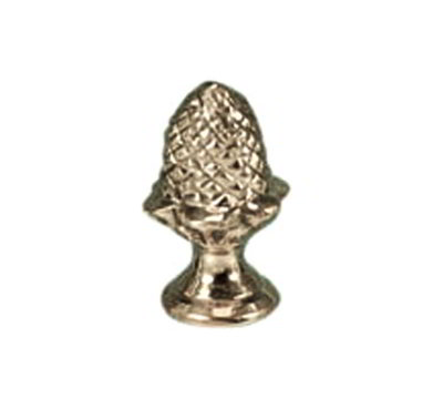American Metalcraft CLKNOBAB Replacement Cloche Knob, Acorn Shape, Brass