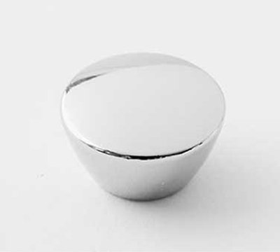 "American Metalcraft CLKNOBMC 1/4"" Mini Cloche Knob - Chrome"