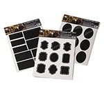 American Metalcraft CSM18 Chalk Sticker Labels - Multi-Shaped, Black Vinyl