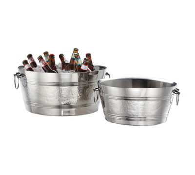 American Metalcraft DWBT15 15-in Party Tub w/ 495-oz Capacity & Swing Handle, Mirror, Stainless