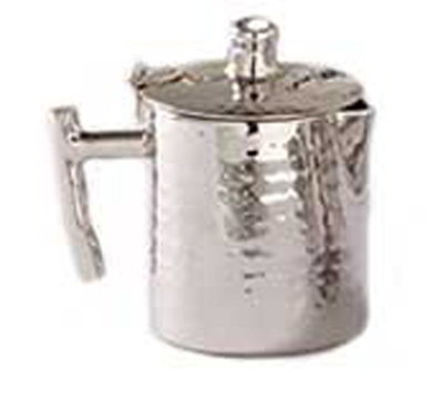 American Metalcraft DWHMC5 Creamer w/ 5-oz Capacity & Hinged Lid, Hammered, Stainless