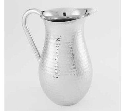 American Metalcraft DWPH64 Water Pitcher w/ 64-oz Capacity & Ice Guard, Hammered, Stainless