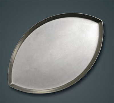 American Metalcraft FBALL1HC Football Shaped Pizza Pan, .62-in Deep, Hardcoat, Aluminum