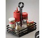 American Metalcraft FWC68 Flat Condiment Basket w/ Slotted Handle, Black