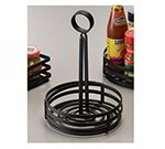 American Metalcraft FWC69 6-in Flat Condiment Basket w/ Slotted Handle, Black