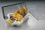 American Metalcraft GCRB2613 Rectangular Tabletop Basket, Black