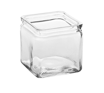 American Metalcraft GJ24 24-oz Square Glass Jar