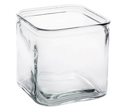 American Metalcraft GJ72 72-oz Square Glass Jar