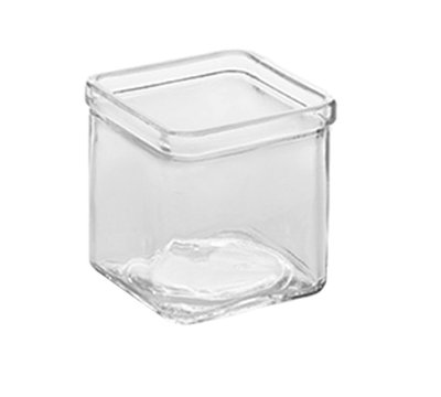 American Metalcraft GJ8 8-oz Square Glass Jar