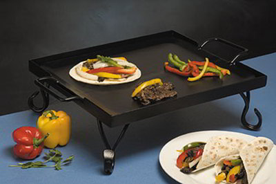American Metalcraft GS16 16-in Griddle w/ Stand, Wrought Iron/Black