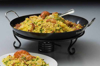 American Metalcraft GS1775 17.75-in Paella Pan, Non Stick Finish, Stainless