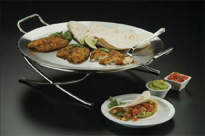 American Metalcraft GSST17 17.5-in Round Griddle w/ Handle, Stainless