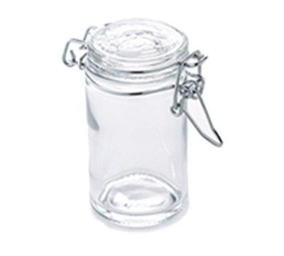 American Metalcraft HMMJ2 2.5-oz Mini Mason Jar with Hinged Lid - Glass