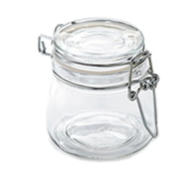 American Metalcraft HMMJ5 5-oz Mini Mason Jar with Hinged Lid - Glass