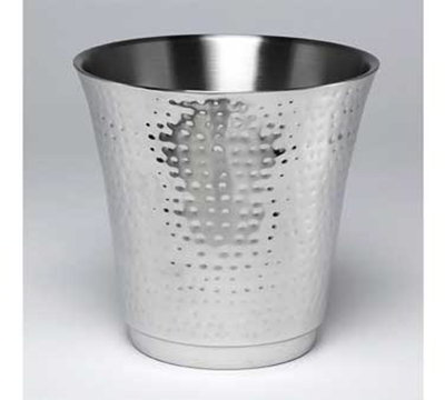 American Metalcraft HMWB 8.75-in Round Wine Bucket, Hammered, Stainless