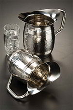 American Metalcraft HMWP85 8-in Bell Water Pitcher w/ 68-oz Capacity, Hammered, Stainless