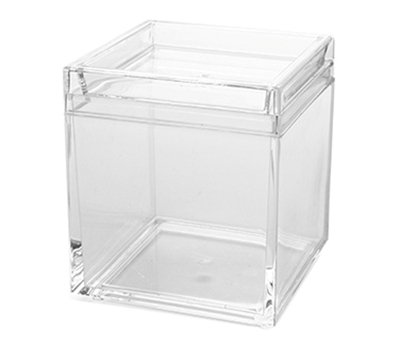American Metalcraft LSSB4 26-oz Square Storage Box - Clear Acrylic