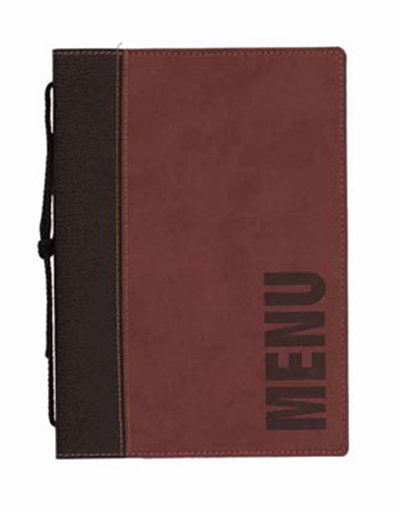 American Metalcraft MCTRLSWR Menu Cover w/ De-Bossed Lettering & 2-Page Insert, Wine Red