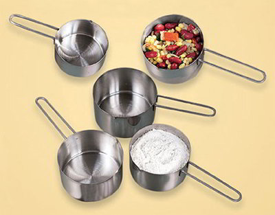 American Metalcraft MCW14 Measuring Cup w/ 1/4-Cup Capacity & Wire Loop Handle, Stainless