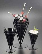 American Metalcraft MELFCB534 5-in Fry cone w/ 10-oz Capacity, Melamine/Black