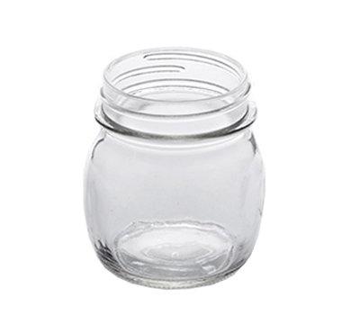 American Metalcraft MJ85 8-1/2-oz Glass Mason Jar - Clear