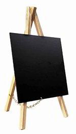 American Metalcraft MNIBKR Mini Tabletop Chalkboard w/ Removable Board, Natural Wood