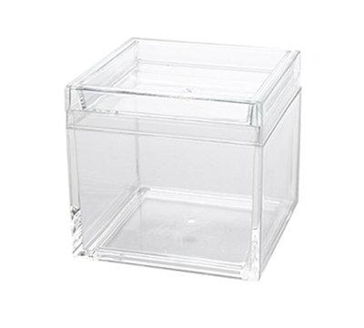 American Metalcraft MSSB4 21-oz Square Storage Box - Clear Acrylic