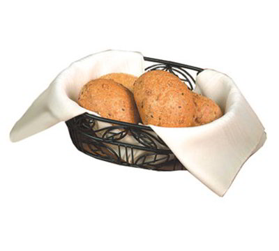 American Metalcraft OLB9 Oval Bread Basket w/ Leaf Design, Wrought Iron/Black