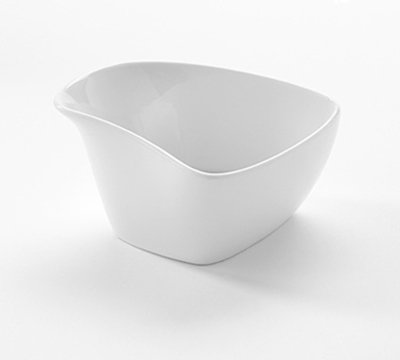 American Metalcraft PB8 8-oz Square Slanted Bowl - White Porcelain