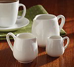 American Metalcraft PCR25 Creamer w/ 2.5-oz Capacity & Handle, Porcelain, White