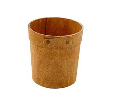 "American Metalcraft PWRP4 4"" Round Basket - Poplar Wood"