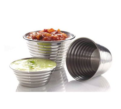 American Metalcraft RSC3 2.25-in Sauce Cup w/ 1.5-oz Capacity, Ribbed Finish, Stainless