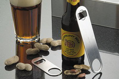 American Metalcraft SBO154 Flat Mini Bottle Opener, Stainless