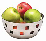American Metalcraft SB1 8-in Checkered Bowl, Stainless