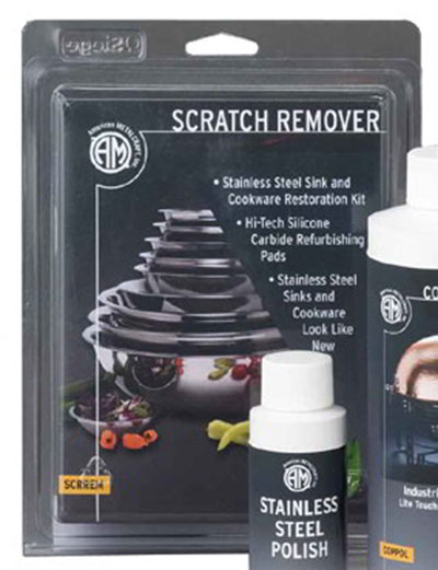 American Metalcraft SCRREM1 Scratch Remover For Sinks & Cookware, Stainless
