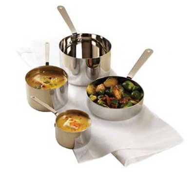 American Metalcraft SHSP32 3.5-in Mini Sauce Pot w/ Handle, Stainless