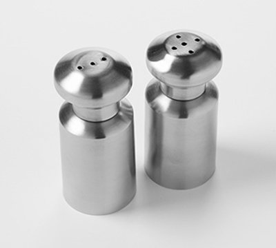 American Metalcraft SPM4 1/2-oz Mini Salt/Pepper Set - Satin-Finish Stainless