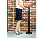 "American Metalcraft SPRV2 40"" Outdoor Smoker Pole - Black Matte Stainless"