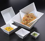 American Metalcraft SQB55 4.87-in Square Bowl w/ 15-oz Capacity, Porcelain/White
