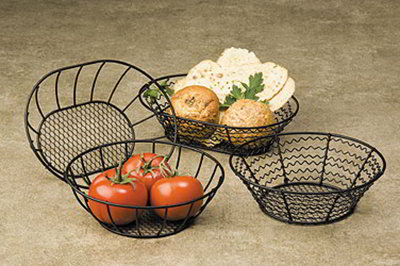 American Metalcraft WSB69 Basket w/ Wavy Side, 6x9-in, Mesh