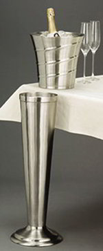 American Metalcraft SWBSTND Wine Bucket Stand, Swirl Embossed